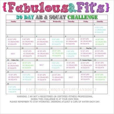 fabulous 30 day fitness plan example1