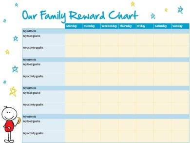 family reward chart example1