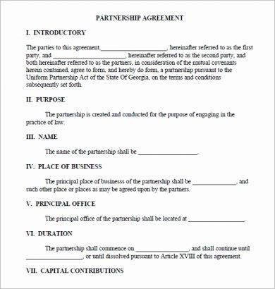 10 Real Estate Partnership Agreement Examples Pdf Word Examples