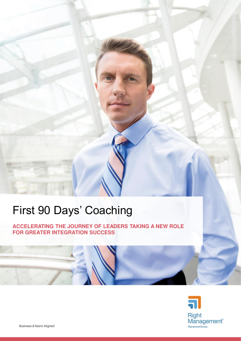 first 90 days' coaching in a new job role
