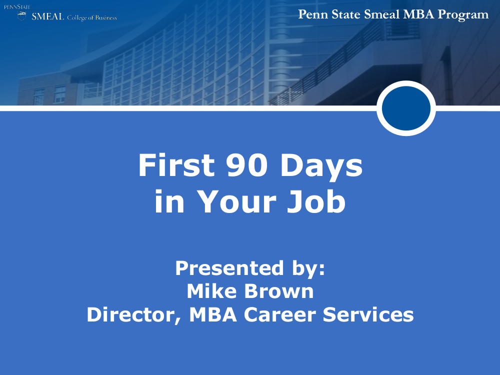 first 90 days in your job