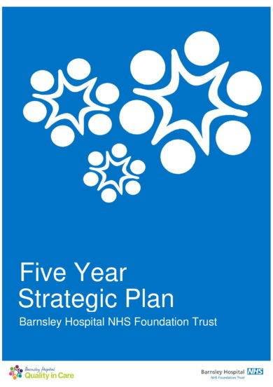 five year strategic plan for a hospital example