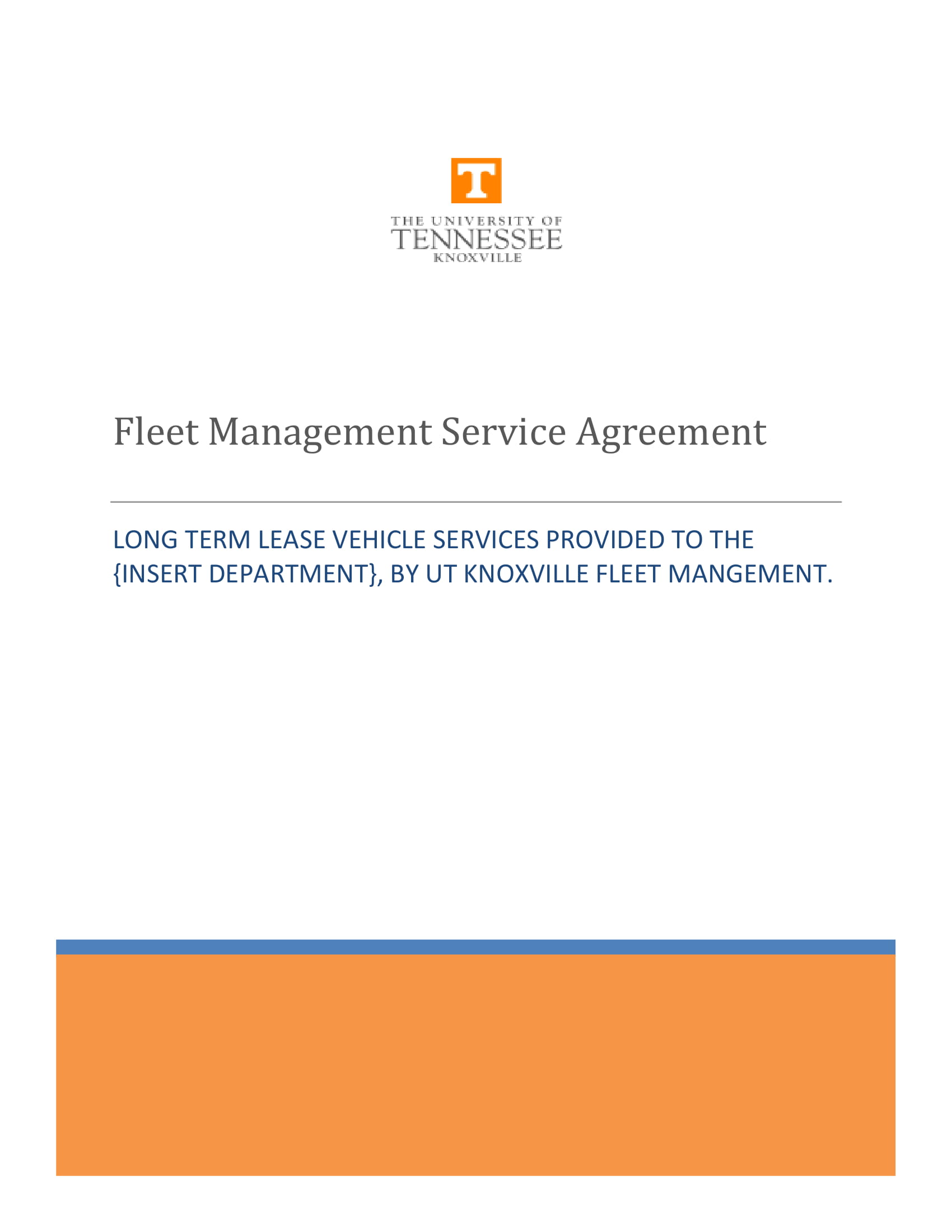 fleet management service agreement example