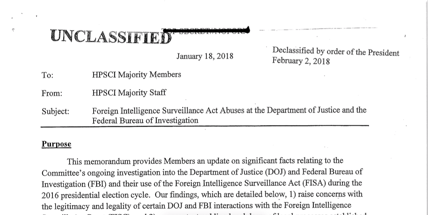 foreign intelligence surveillance act abuses at the department of justice and the federal bureau of investigation memo example