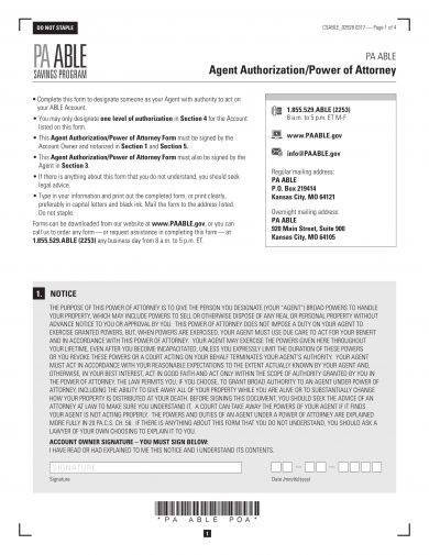 Formal Agent Authorization Power Of Attorney Example1