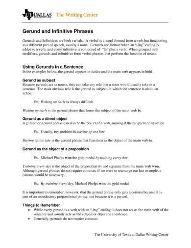gerund and infinitive phrase example1