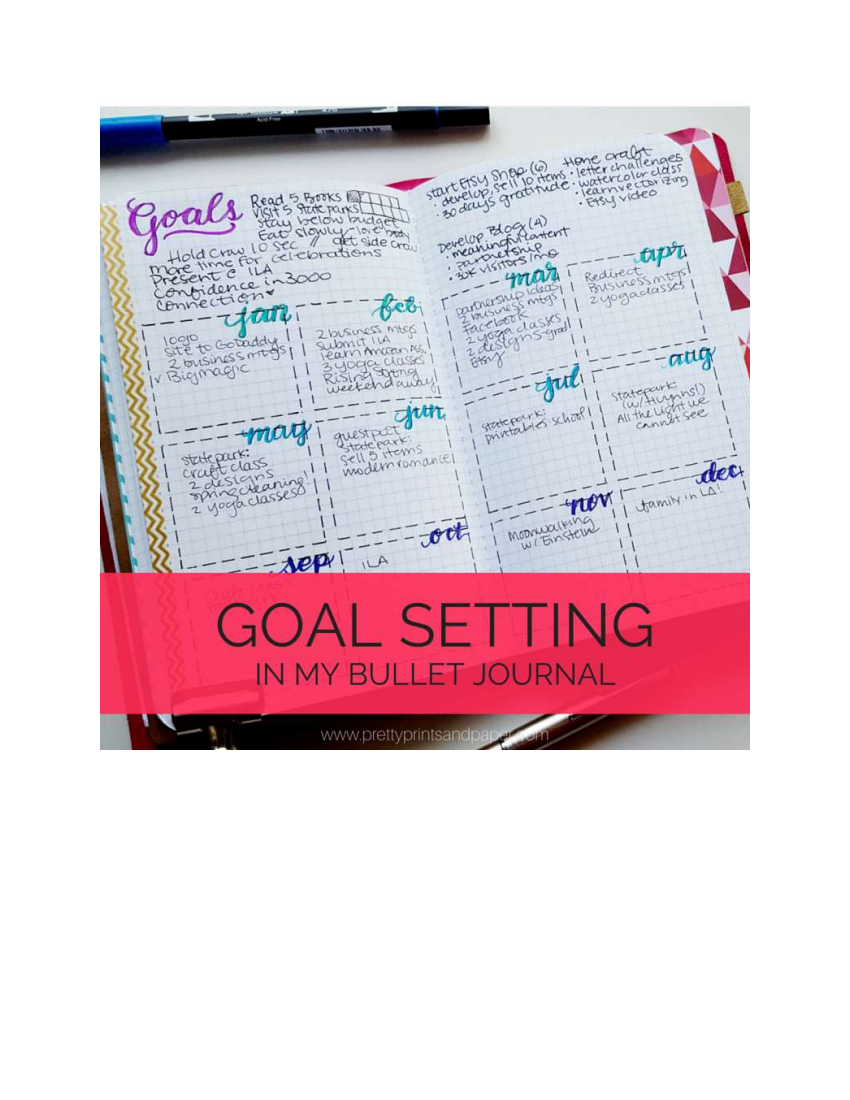goal setting journal example