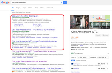 google ads for hotels