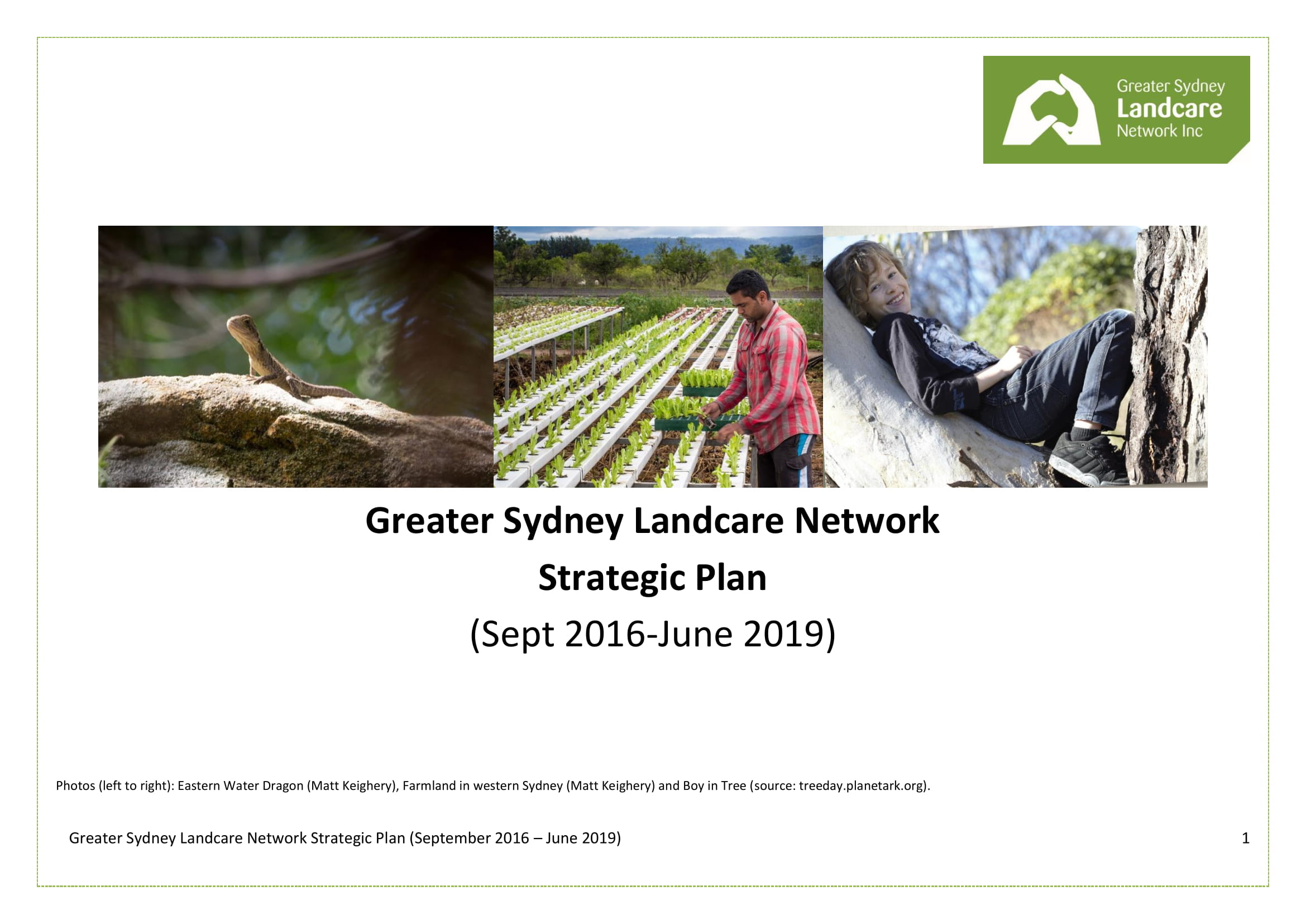 greater sydney landcare network strategic plan example