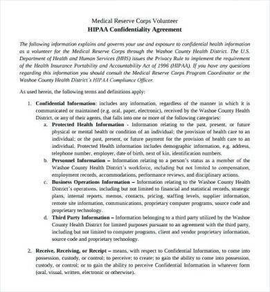 hipaa confidentiality agreement1