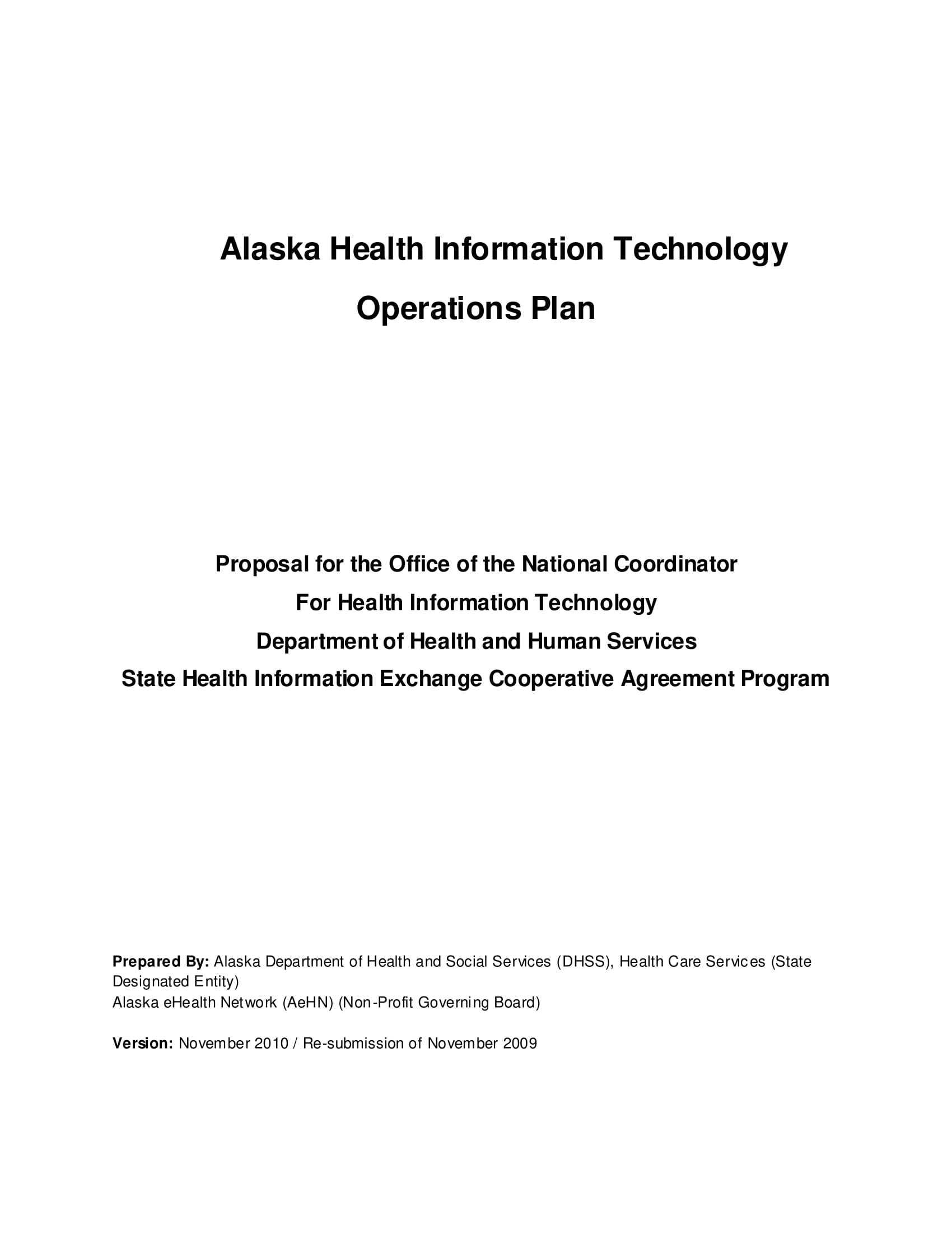 health information technology operations plan example 01