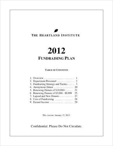 heartland institute annual fundraising plan example1