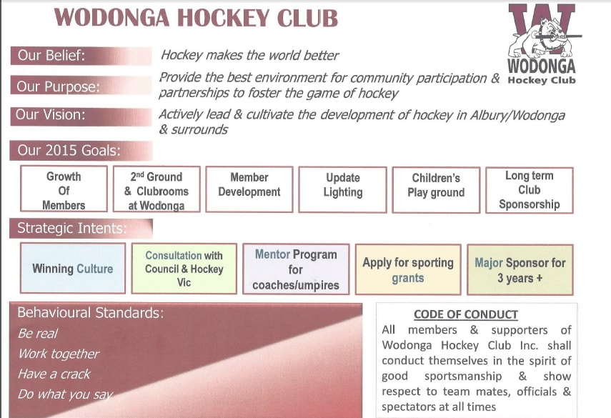 hockey club strategic plan example