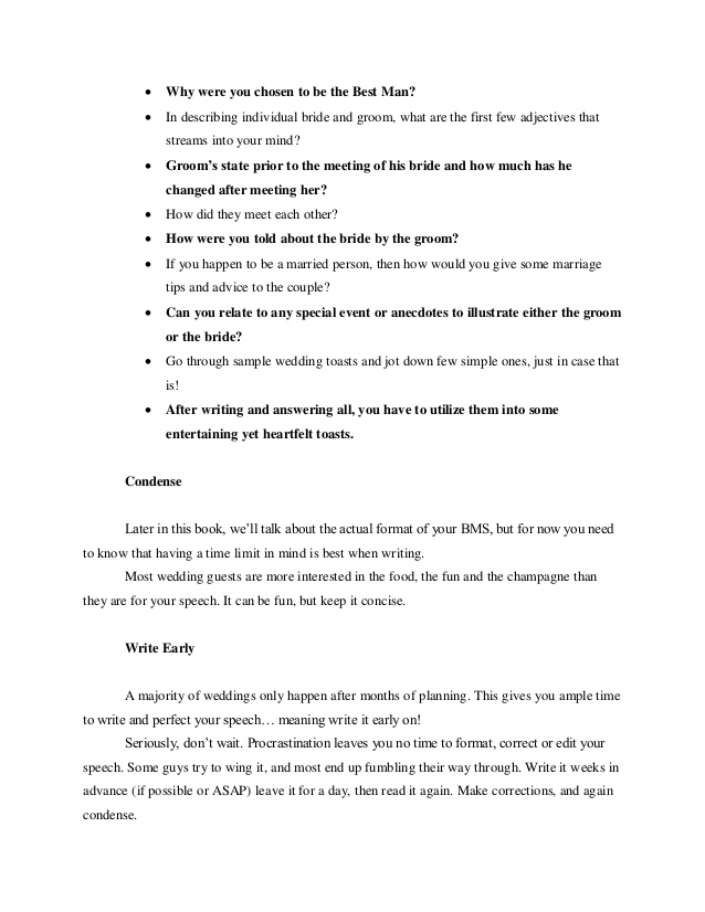 11 Best Man Speech Examples Pdf Examples