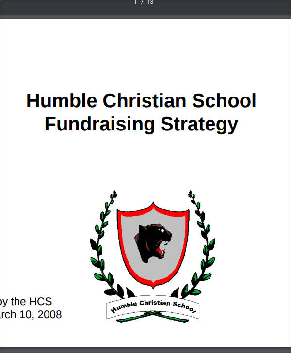 humble christian school fundraising strategy