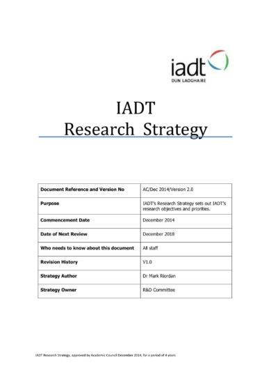 iadt research strategic plan example1
