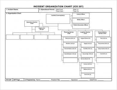 incident organizational flow chart template template example1