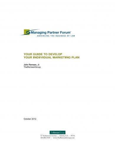 individual marketing plan example