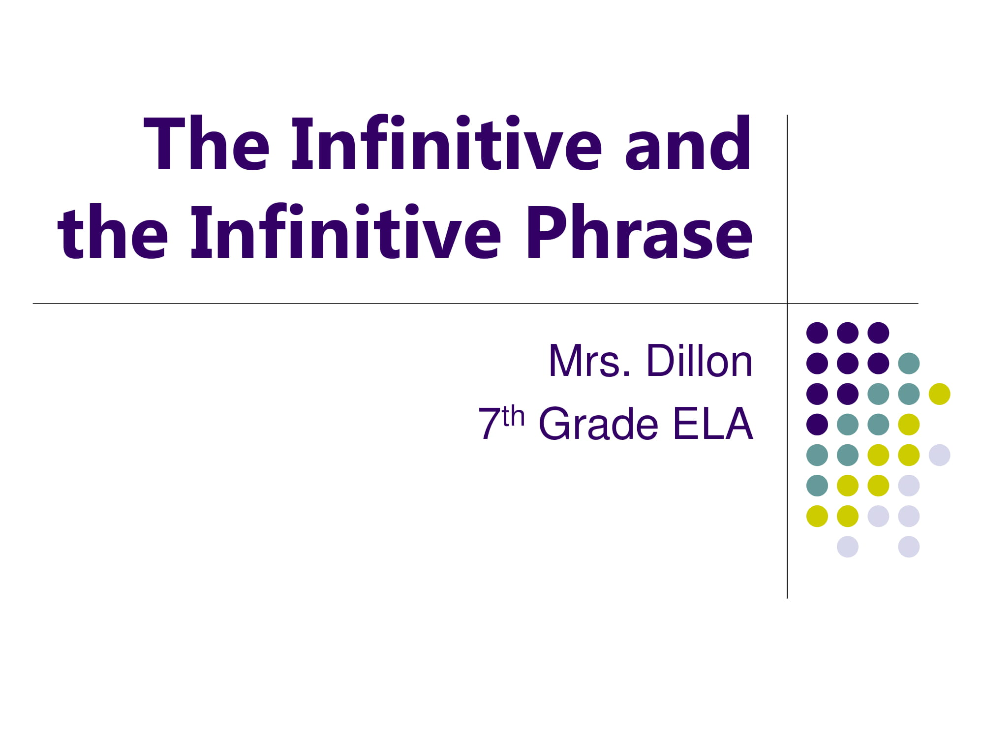 infinitive and infinitive phrase discussion and example