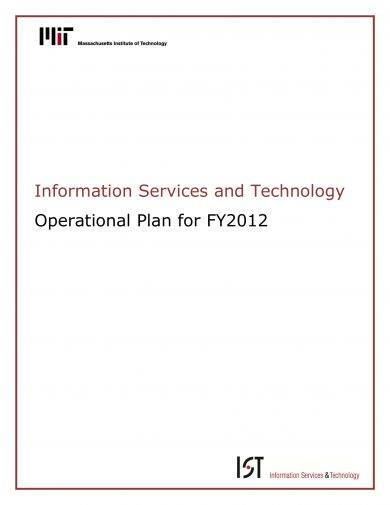 information services and technologyproject operational plan example1