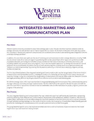 Integrated Marketing And Communication Plan Example