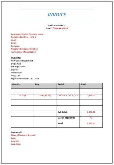 invoice document example1
