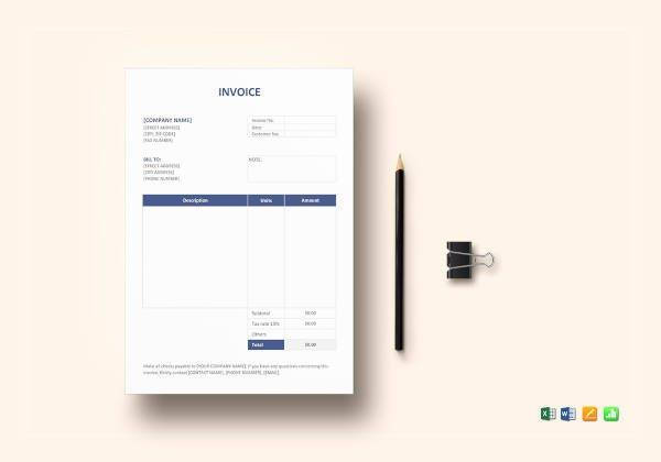 invoice format template1