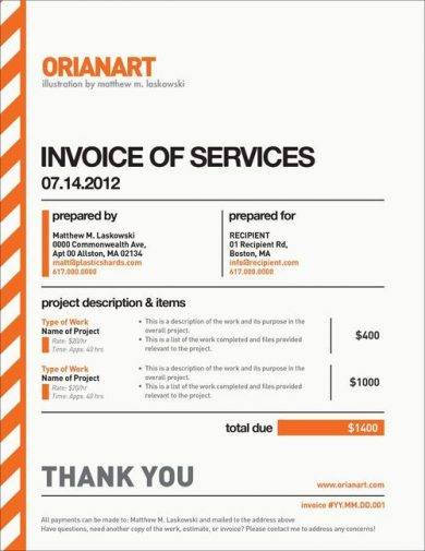 invoice of services1