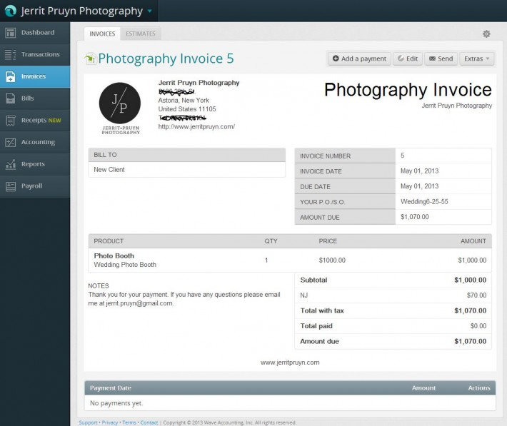 Wedding Photography Invoice: 19+ Photography Invoice Examples
