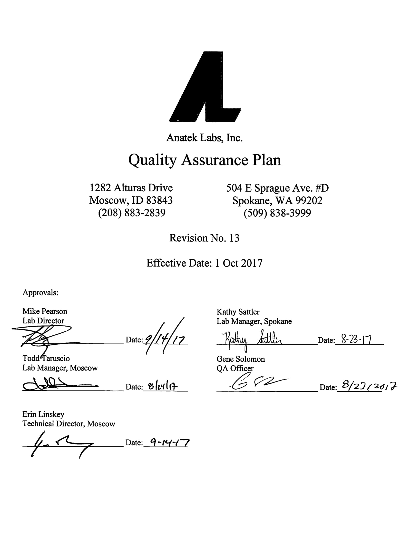 laboratory quality assurance plan example 01