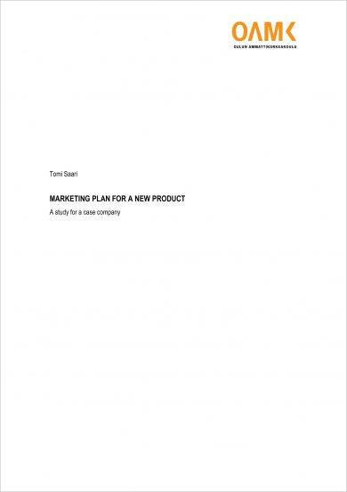 launching project marketing plan for a new product