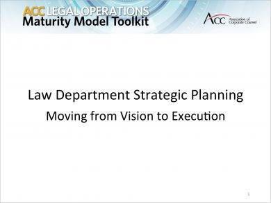 law department strategic plan example