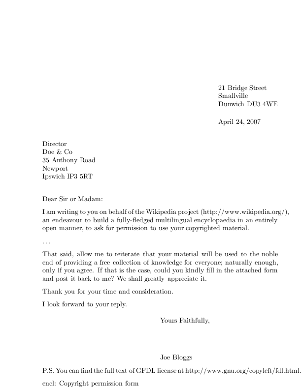 example of a business letter 20 official letter format examples pdf examples 21557 | Letter With Postscript Example