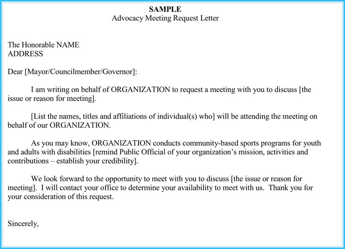 letter for meeting appointment letter example