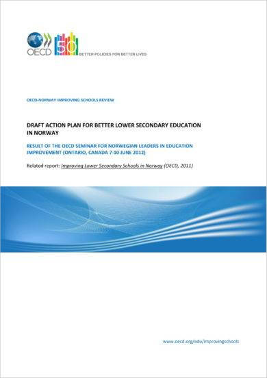lower secondary education draft action plan example1