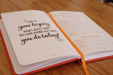 making your legacy journal notebook