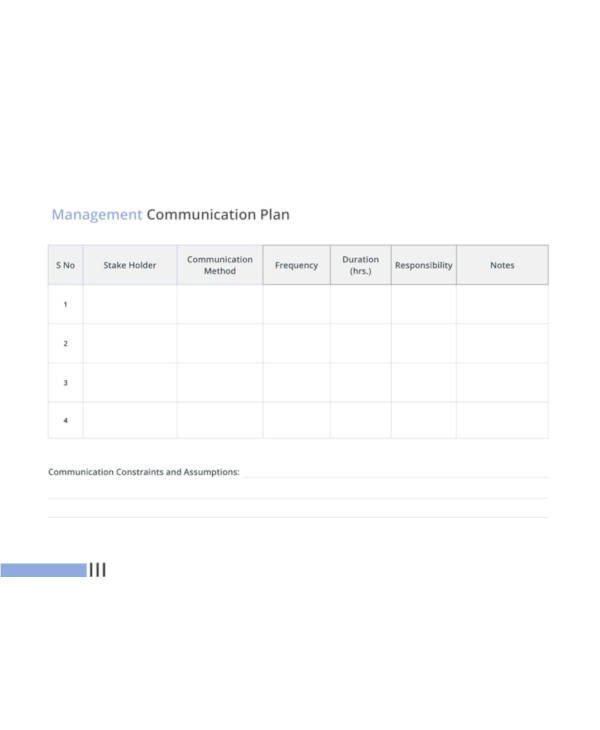 management communication plan