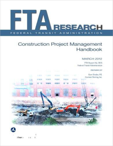 management handbook for construction project planning example
