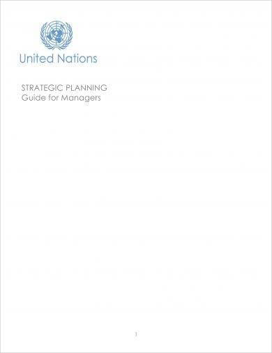 managers guide for brief strategic plan example1