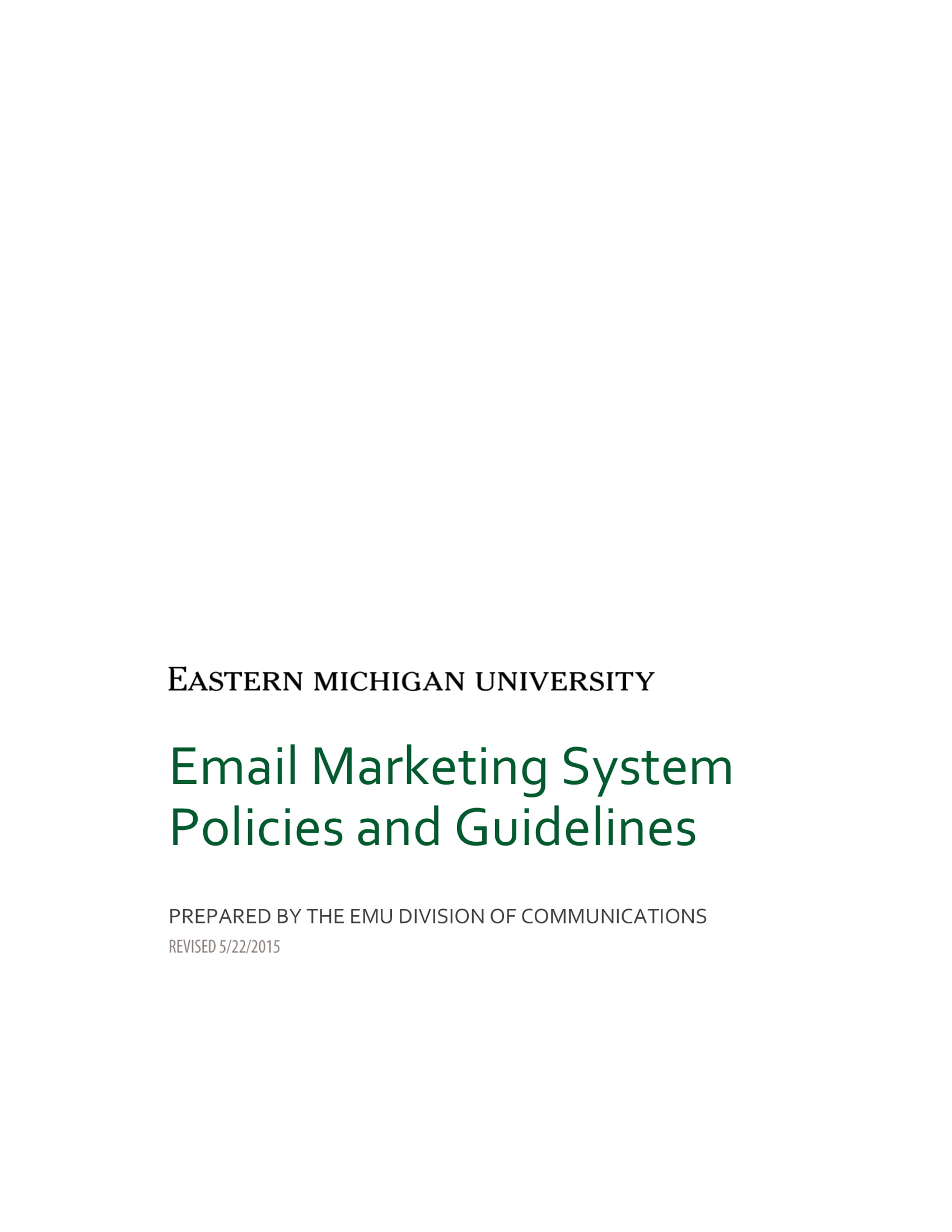 marketing plan email marketing system policies and guidelines 1