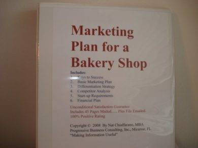 marketing plan for a bakery shop1