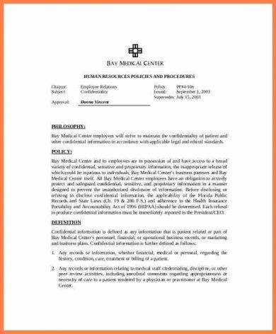 8+ Patient Confidentiality Agreement Examples