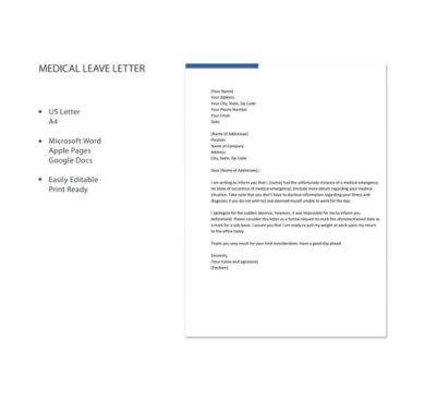medical leave letter example1