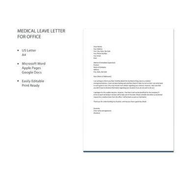 medical leave letter for office example1