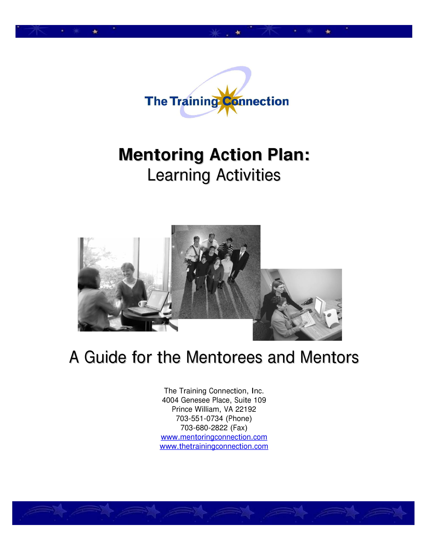 mentoring action plan learning activities example 01
