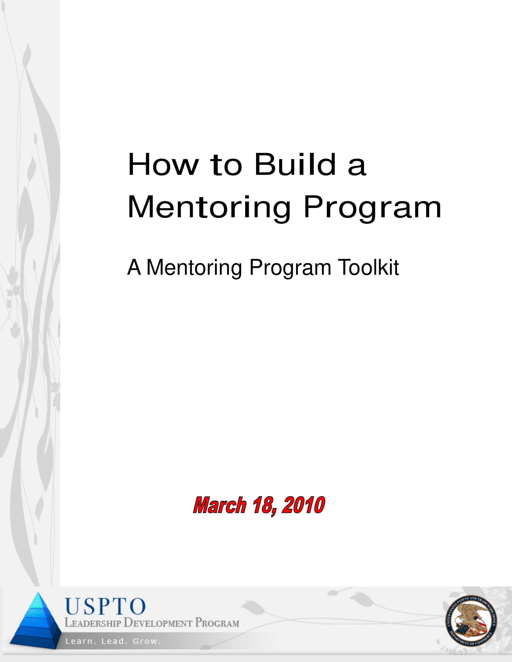 mentoring program action plan and toolkit example 011