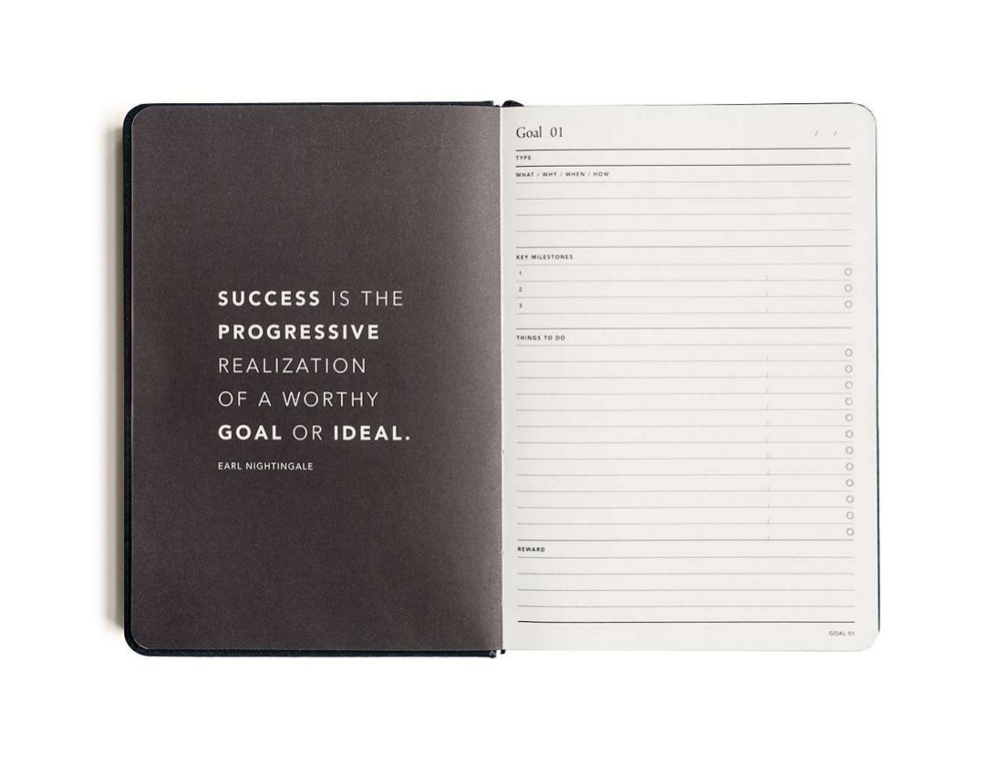 minimalist goal journal example