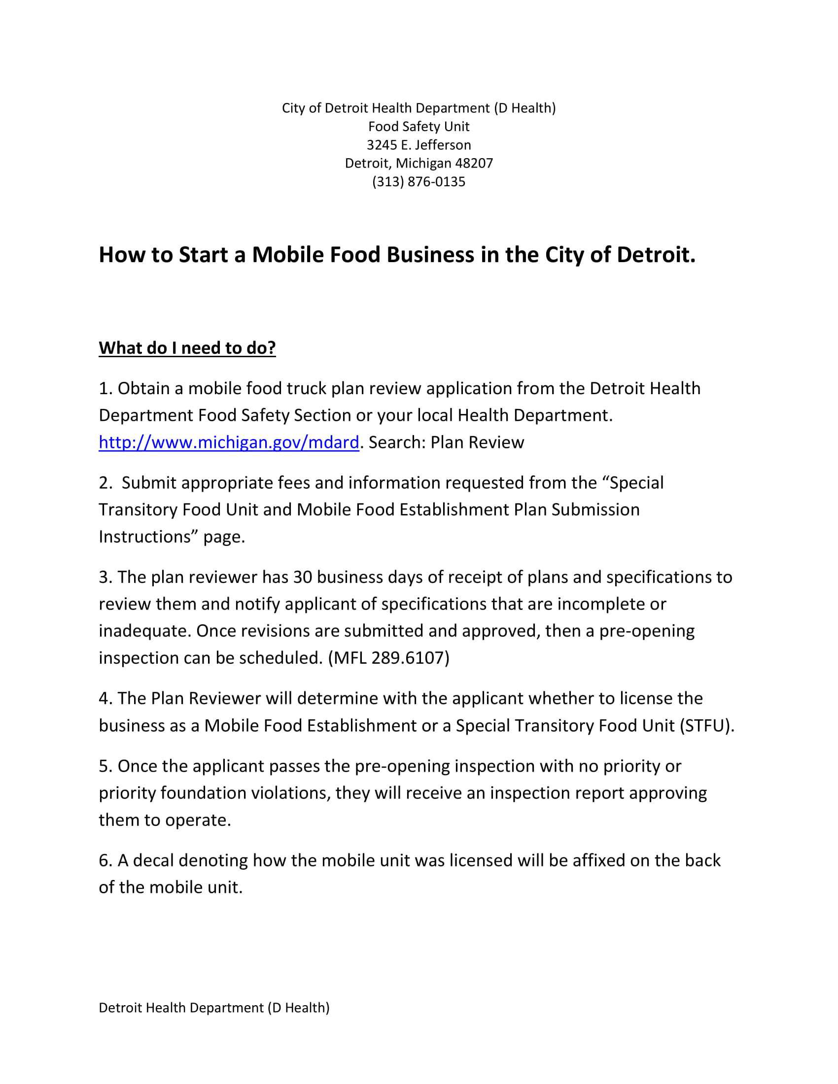 mobile catering business plan regulations example