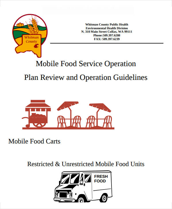 mobile food catering business plan example
