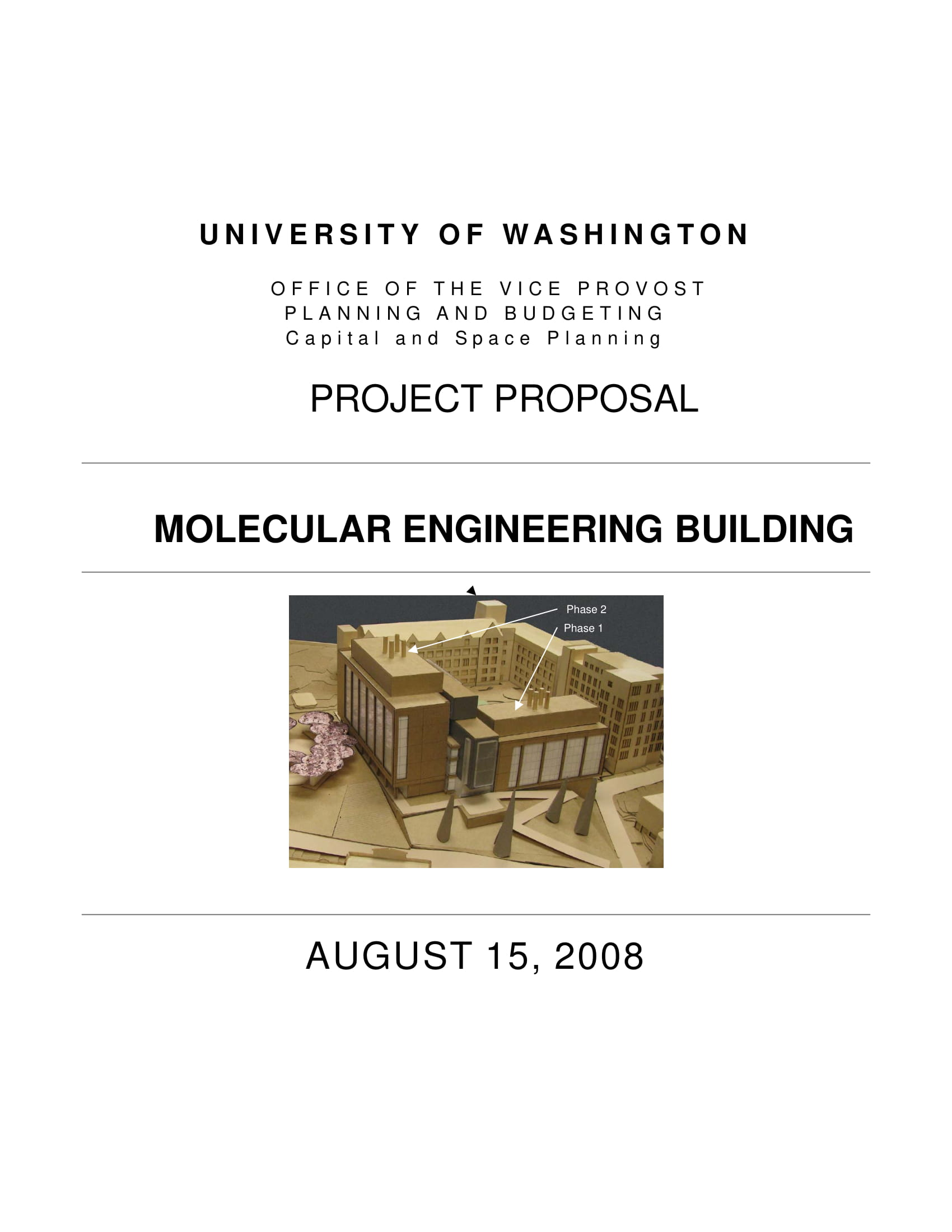 molecular engineering capital project proposal example